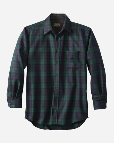 MEN'S LODGE SHIRT IN BLACK WATCH TARTAN