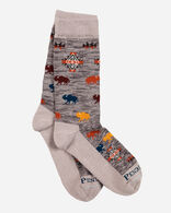PRAIRIE RUSH HOUR CREW SOCKS IN GREY