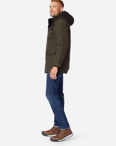 ALTERNATE VIEW OF MEN'S ONTARIO DOWN PARKA IN OLIVE