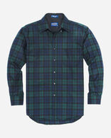 MEN'S FITTED FIRESIDE SHIRT IN BLACK WATCH TARTAN