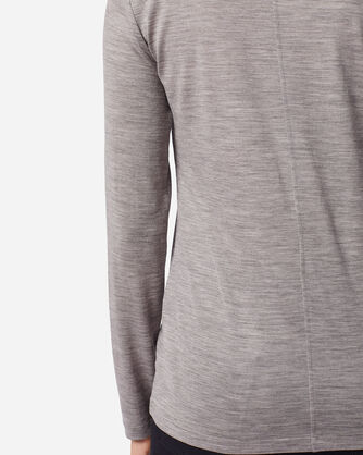 ADDITIONAL VIEW OF MACHINE WASHABLE LONG SLEEVE MERINO TEE IN SOFT GREY HEATHER
