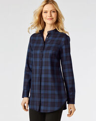 WHITNEY TUNIC, NAVY/BLUE BLOCK PLAID, large