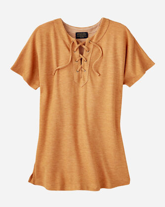 LACE-UP TEE, , large