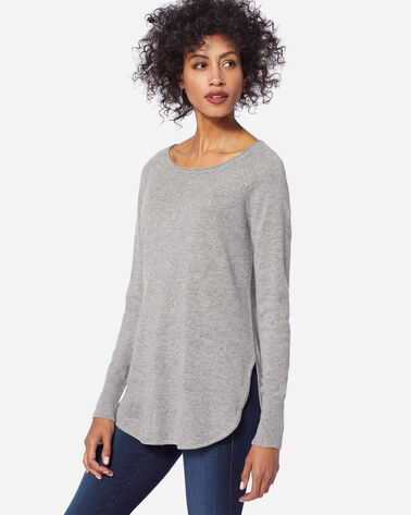 CASHMERE JOSEPHINE PULLOVER, SOFT GREY HEATHER, large