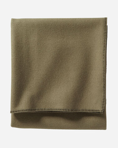 ECO-WISE WOOL SOLID BLANKET IN CAPER