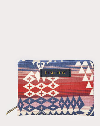 CANYONLANDS CANVAS ACCORDION WALLET, RED/BLUE CANYONLANDS, large