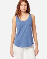 WOMEN'S COTTON SLUB TANK IN BLUE HORIZON