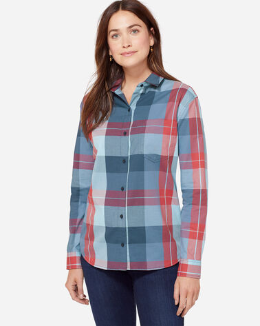 STEVIE PLEAT BACK SHIRT IN AMERICANA PLAID