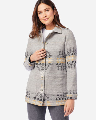 ALTERNATE VIEW OF WOMEN'S JACQUARD BARN JACKET IN RANCHO ARROYO GREY