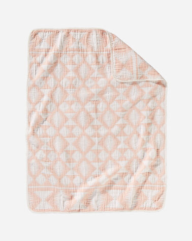 FALCON COVE COTTON BABY BLANKET IN CORAL