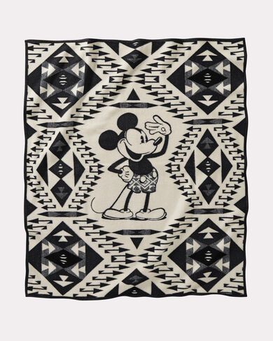 DISNEY'S MICKEY'S SALUTE THROW IN BROWN