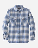 DOUBLE-BRUSHED FLANNEL ELBOW PATCH SHIRT, VINTAGE INDIGO OMBRE, large