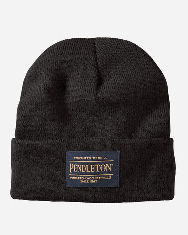 PENDLETON BEANIE, BLACK, large