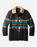 MEN'S BROWNSVILLE SHEARLING COLLAR COAT IN PATHFINDER CHARCOAL
