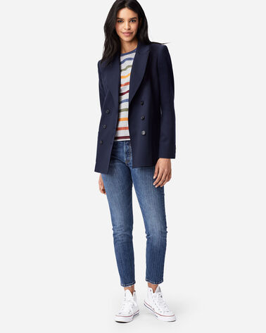 WOMEN'S PRESTON DOUBLE-BREASTED BLAZER IN NAVY