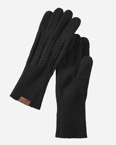 CABLE GLOVES IN BLACK
