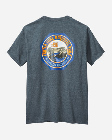 ALTERNATE VIEW OF MEN'S CRATER LAKE PARK TEE IN SLATE HEATHER