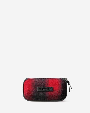 BUFFALO CHECK GLASSES CASE IN RED/BLACK OMBRE