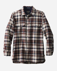 FITTED BUCKLEY SHIRT, TAN MIX/BROWN PLAID, large