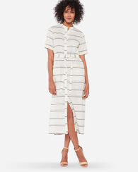 BELTED MIDI SHIRTDRESS