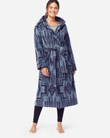 WOMEN'S JACQUARD TERRY ROBE IN DUSK BLUE HARDING