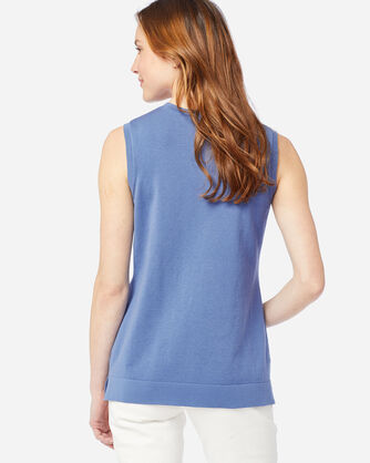ALTERNATE VIEW OF WOMEN'S COLBY SLEEVELESS CREW IN BLUE HORIZON