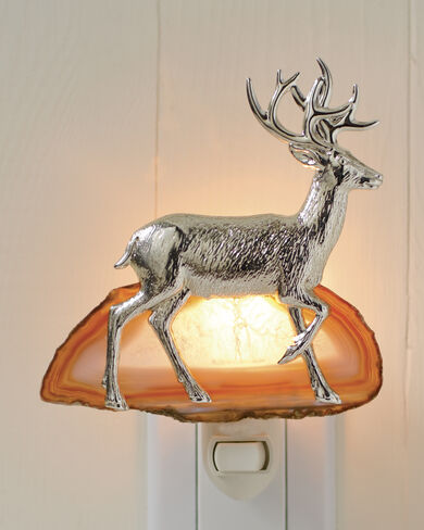 STAG AND AGATE NIGHT LIGHT
