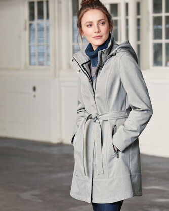 TECHRAIN BELTED COAT, , large