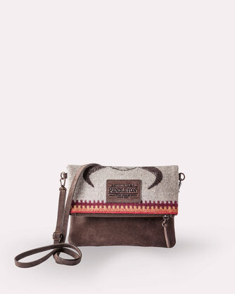 FOLDOVER CLUTCH, AMERICAN WEST, large