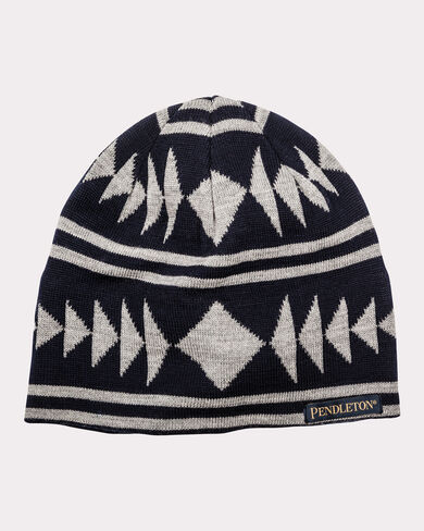 KNIT WATCH CAP, NAVY/GREY, large