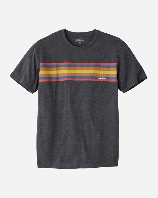 MEN'S NATIONAL PARK STRIPE TEE IN CHARCOAL HEATHER ZION