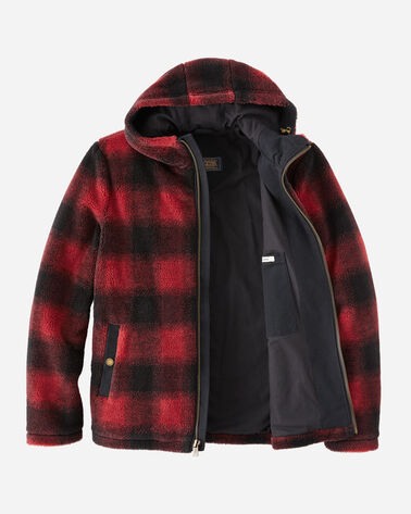 ALTERNATE VIEW OF MEN'S DESCHUTES SHERPA JACKET IN RED OMBRE