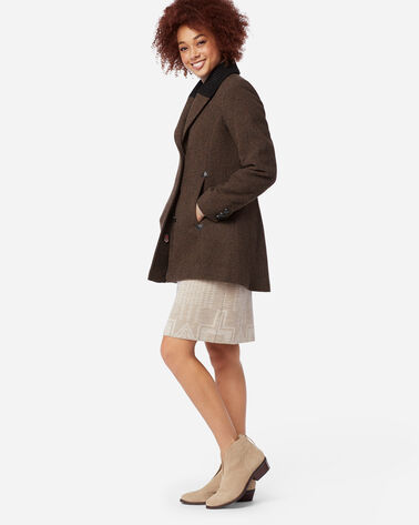 ADDITIONAL VIEW OF WOMEN'S HYDE PARK WOOL RIDING COAT IN MAHOGANY