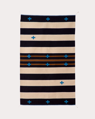 TURQUOISE CROSSES RUG