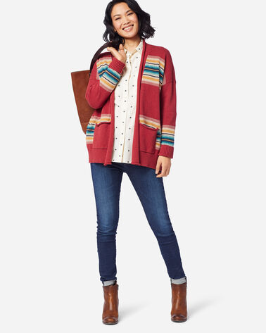 WOMEN'S WESTERN HORIZONS CARDIGAN IN RED ROCK