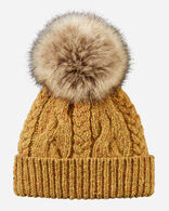 CABLE HAT IN YELLOW
