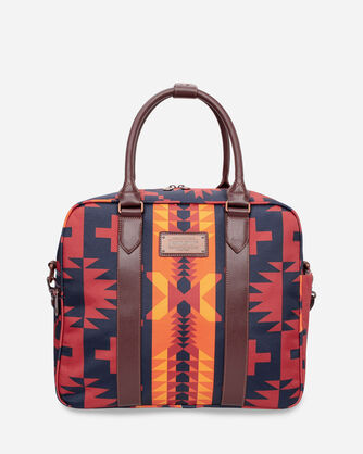 SPIDER ROCK WEEKENDER BAG IN RUST/NAVY