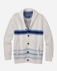TOMMY BAHAMA & PENDLETON SHAWL CARDIGAN, CLOUD HEATHER, large