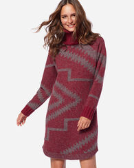 SUBLIMITY SWEATER DRESS, RED ROCK/GREY, large