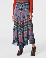 HARVEST BLANKET SKIRT, INDIGO, large