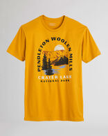 MEN'S CRATER LAKE HERITAGE TEE IN ANTIQUE GOLD