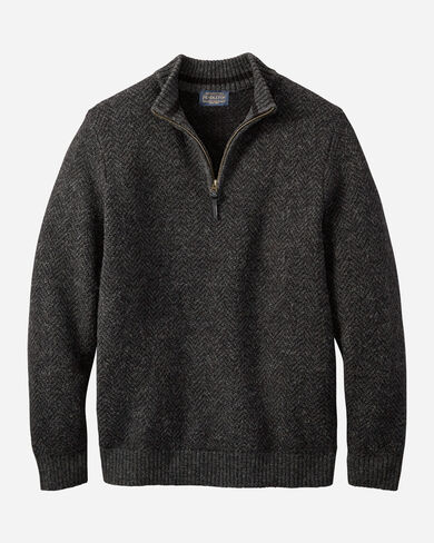 MEN'S MAGIC-WASH MERINO QUARTER ZIP IN BLACK HEATHER