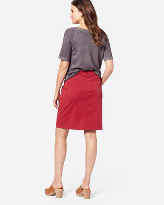 ADDITIONAL VIEW OF CHINO TWILL SKIRT IN RED ROCK