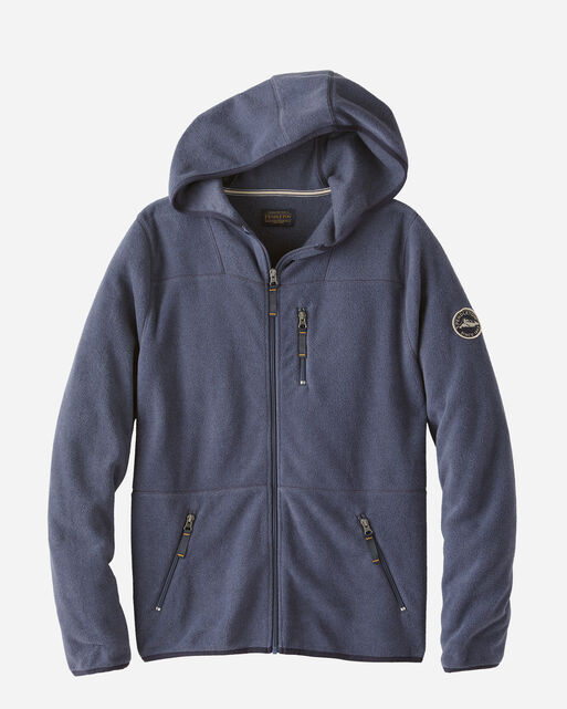 MEN'S FLEECE HOODIE IN NAVY HEATHER