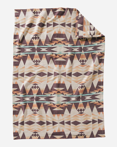 CRESCENT BUTTE WOVEN THROW IN TAN MULTI