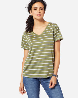 SHORT-SLEEVE MERINO STRIPE TEE