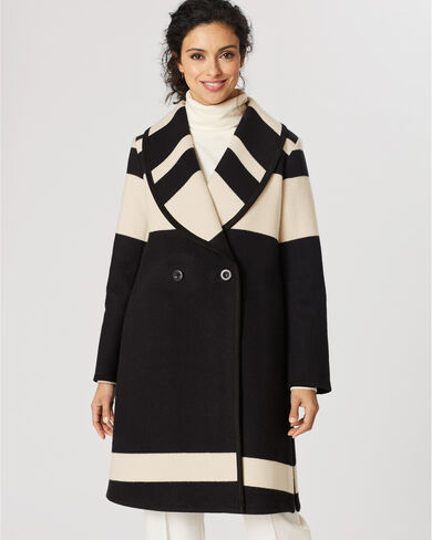 SHAWL COLLAR BLANKET COAT