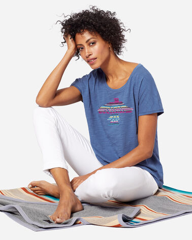 WOMEN'S EMBROIDERED EAGLE TEE