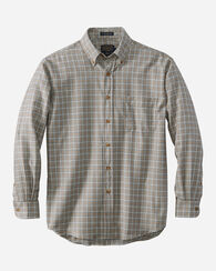 SIR PENDLETON WOOL SHIRT, LIGHT GREY WINDOWPANE, large