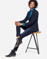 WOMEN'S BRYNN WOOL BLAZER IN BLACK/BLUE PLAID